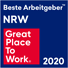 Logo Great Place to Work – Beste Arbeitgeber in NRW 2020
